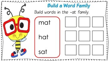 Word Family Mats - short vowels