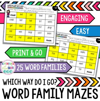 Word Family Mazes