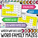 Word Family Mazes