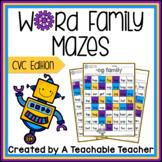 Word Family Mazes - CVC Edition!