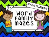 Word Family Mazes *Freebie*