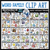 Word Family Clip Art Mega Bundle (25 Sets - 250 images) Whimsy Workshop Teaching