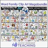 Word Family Clip Art Mega Bundle (25 Sets - 250 images) Wh
