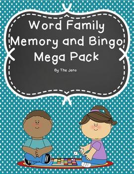 Word Family Memory and Bingo Mega Pack