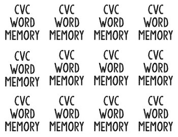 Word Family Memory: Short Vowels