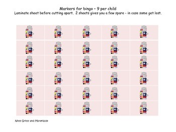 Word Family Mini Bingo -O-families