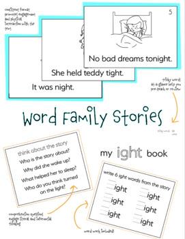 Word Family Mini Book -ight