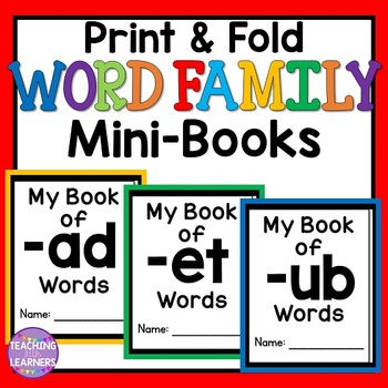 cvc word family books by teaching little learners tpt