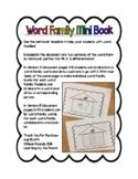 Word Family Mini Books