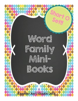 Word Family Mini-Books: Short O Set
