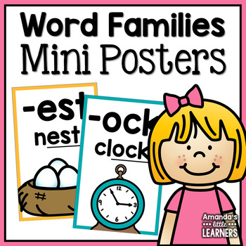Word Family Mini Posters or Flashcards