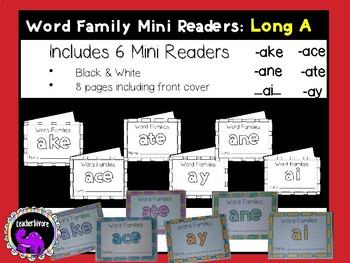 Word Family Mini-Readers: Long A