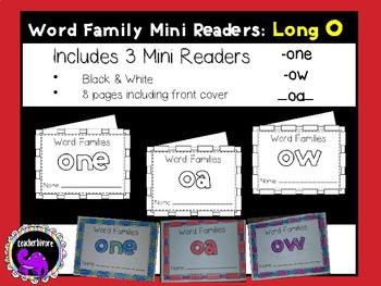 Word Family Mini-Readers: Long O