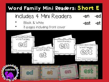 Word Family Mini-Readers: Short E