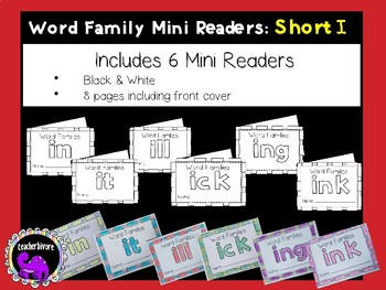 Word Family Mini-Readers: Short I