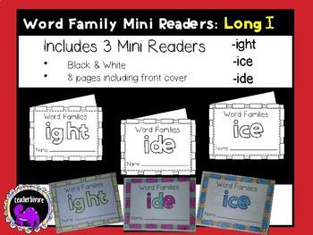Word Family Mini-Readers: Long I