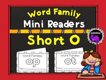 Word Family Mini-Readers: Short O