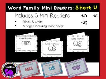 Word Family Mini-Readers: Short U