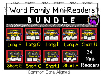 Word Family Mini-Readers: THE BUNDLE