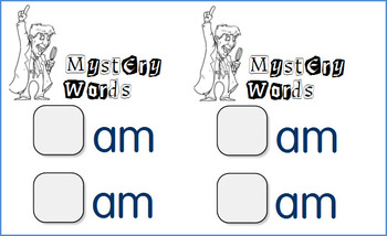 Word Family Mysteries - Centers or Whole Group Activity