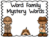 Word Family Mystery Words