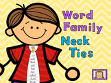 Word Family Neck Ties