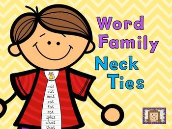 Word Family Neck Ties