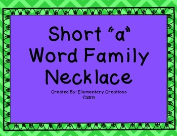 Word Family Necklace