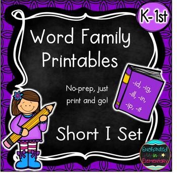 Word Family No-Prep Printables: Short I Pack