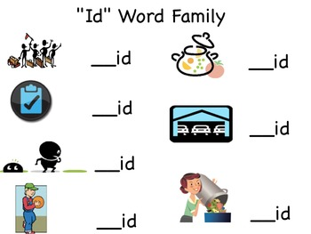 Word Family Notebook