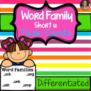 "Word Family ""U"" Task Cards"