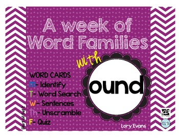 Word Family - ound family