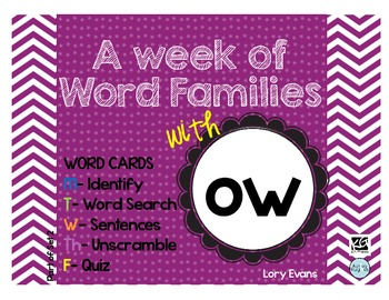 Word Family - ow family
