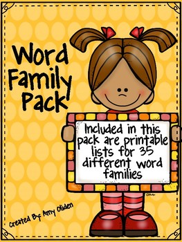Word Family Pack