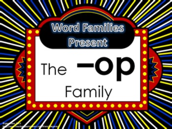 Word Family Packet (The -op Family)