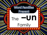 Word Family Packet (The -un Family)