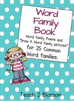 Word Family Packet: Write, draw and find in Poems