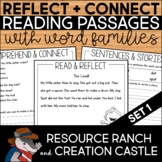 Word Family Passages with Reading Comprehension Questions Set 1