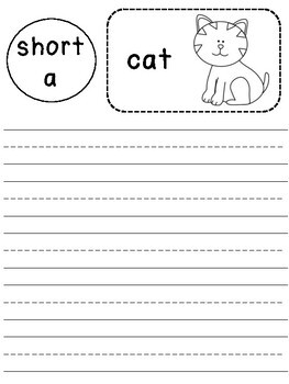Word Families Phonics Journal