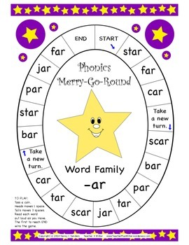 Word Family Phonics Merry-Go-Round Games A First 10-pack