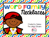Word Family Phonics Necklaces
