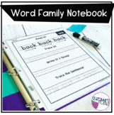 Word Family Phonics Notebook