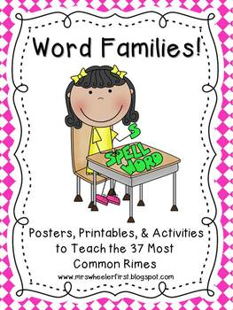 First Grade Phonics: Word Families