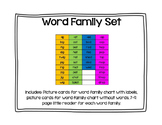 Word Family Picture Cards and Little Readers