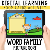 Word Family Picture Sort: Digital Task Cards   BOOM CARDS™