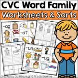 CVC Word Families Worksheets and Picture Sorts