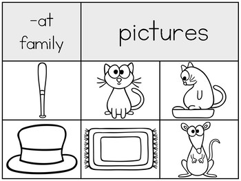 Word Family Sorts with Picture and Word Cards