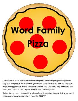 Word Family Pizza Sort