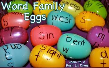 Word Family Plastic Easter Eggs