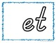 Word Family Playdough Mat & Recording Sheet {at, et, it, ot, ut}